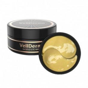 Гидрогелевые патчи с золотом и ферментом магния против морщин и сухости Wellderma Ge Gold Eye Mask