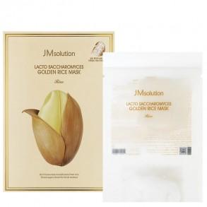 Тканевая маска с ферментированными компонентами JMsolution Lacto Saccharomyces Golden Rice Mask