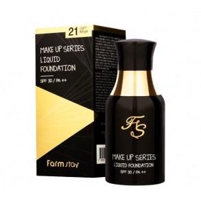 Тональная основа с цветочным экстрактом FarmStay Make-Up Series Liquid Foundatoin №21