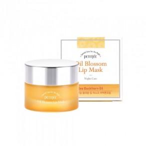 Ночная маска для губ с витамином Е и маслом облепихи Petitfee Oil Blossom Lip Mask Sea Buckthron