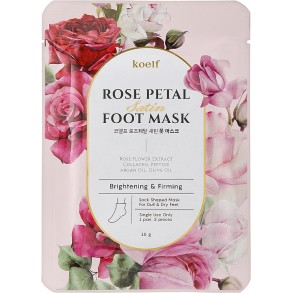 Petitfee&Koelf Rose Petal Satin Foot Mask