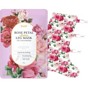 Petitfee&Koelf Rose Petal Satin Leg Mask