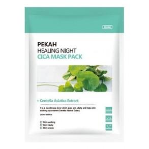 Маска вечерняя восстанавливающая с центеллой азиатской Pekah Healing Night Cica Mask Pack