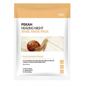 Восстанавливающая вечерняя маска с муцином улитки Pekah Healing Night Snail Mask Pack