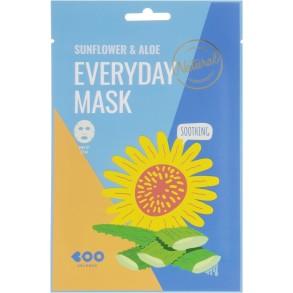 Маска для лица с экстрактом подсолнуха и алоэ Dearboo Everyday Mask Sunflower & Aloe