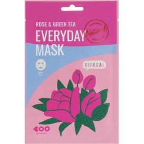 Маска для лица с экстрактом розы и зеленого чая Dearboo Everyday Mask Rose & Green Tea