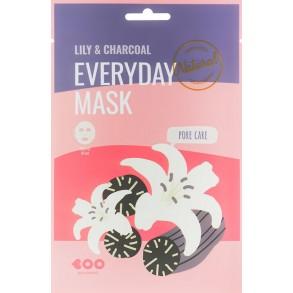 Маска для лица с экстрактом лилии и угля Dearboo Everyday Mask Lily & Charcoal