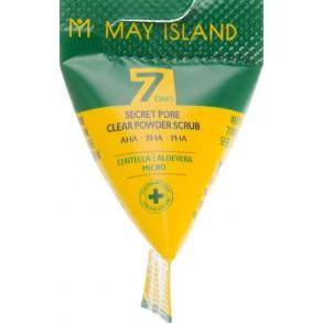 Пилинг гель для глубокого очищения пор с центеллой May Island 7 Days Secret Pore Clear Powder Scrub