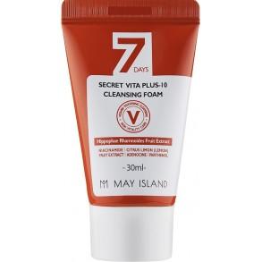 Отбеливающая пенка с витамином С May Island 7 Days Secret Vita Plus-10 Cleansing Foam