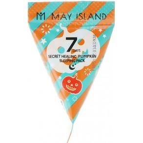 Ночная маска для лица с экстрактом тыквы May Island 7 Days Secret Healing Pumpkin Sleeping Pack 5g