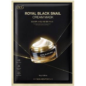 Маска для лица с муцином черной улитки Dr.G Royal Black Snail Cream Mask