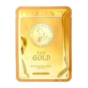 Маска для лица улиточная с золотом Elizavecca 24k Gold Water Dual Snail Mask Pack