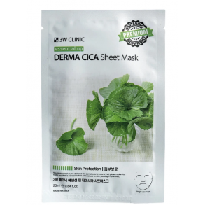 Заживляющая тканевая маска 3W Clinic Essential Up Derma Cica Sheet Mask