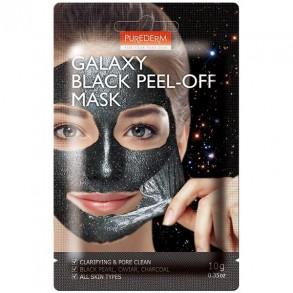 """Маска-пилинг для лица """"Чёрная"""" Purederm Galaxy Black Peel-Off Mask"""