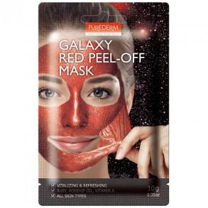 "Маска-пилинг для лица ""Красная"" Purederm Galaxy Red Peel-Off Mask"