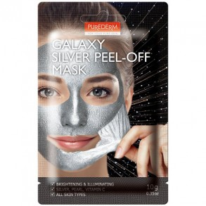 "Маска-пилинг для лица ""Серебряная"" Purederm Galaxy Silver Peel-Off Mask"