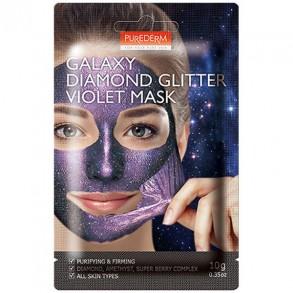 "Маска-пленка для лица ""Фиолетовая"" Purederm Galaxy Diamond Glitter Violet Mask"