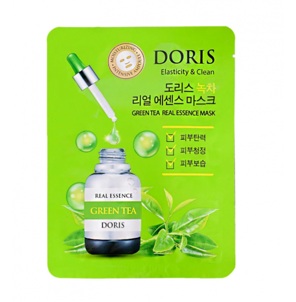 Ампульная маска для лица с экстрактом зелёного чая Jigott Doris Green Tea Essence Mask