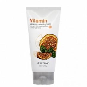 Пенка для умывания 3W Clinic Vitamin Clean Up Cleansing Foam