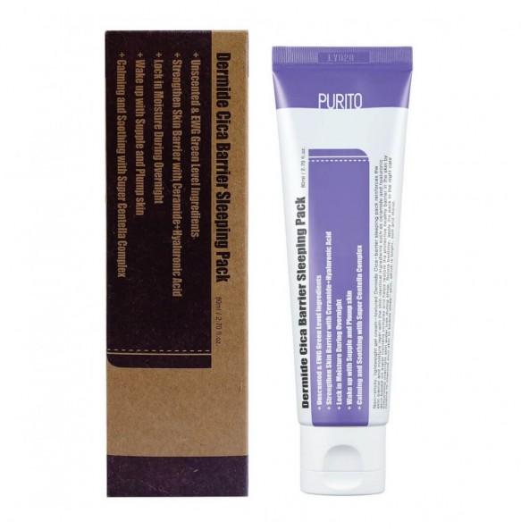 Успокаивающая ночная маска с центеллой Purito Dermide Cica Barrier Sleeping Pack