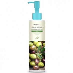 Смягчающее увлажняющее масло для тела с оливой Deoproce Soft  Smooth Moisture Body Oil Olive
