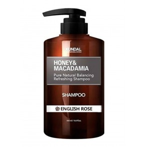 Шампунь для волос английская роза Kundal Honey & Macadamia Shampoo English Rose 500ml
