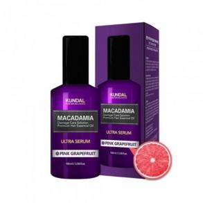 Масло для волос с маслом макадамии и ароматом грейпфрута Kundal Macadamia Ultra Pink Grapefruit