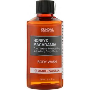 "Гель для душа ""Янтарная ваниль"" Kundal Honey & Macadamia Amber Vanilla Body Wash 100ml"