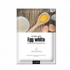 Тканевая маска с яичными протеинами COS.W My Real Skin Egg White Facial Mask