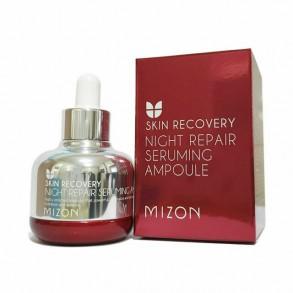 Восстанавливающая ночная сыворотка для уставшей кожи Mizon Night Repair Seruming Ampoule