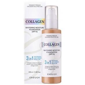 """Тональный крем """"три в одном"""" с коллагеном Enough 3in1 Collagen Whitening Moisture Foundation SPF 15 №23"""