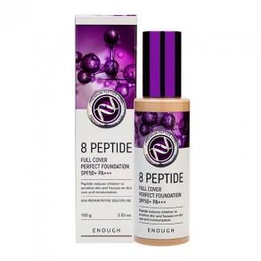 Тональный крем с пептидами Enough 8 Peptide Full Cover Perfect Foundation SPF50+ PA+++ №13