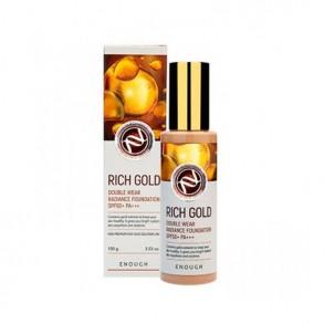 Тональный крем с золотом Enough Rich Gold Double Wear Radiance Foundation SPF50+  PA +++ №13