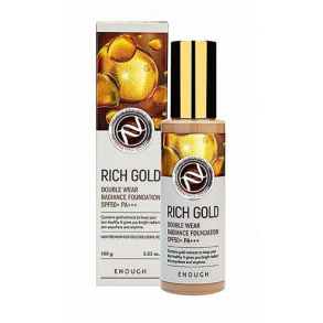 Тональный крем с золотом Enough Rich Gold Double Wear Radiance Foundation SPF50+  PA +++ №21