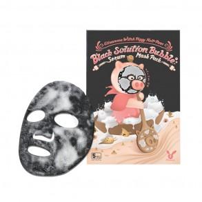 Пузырящаяся маска от черных точек Elizavecca Hell Pore Black Solution Bubble Serum Mask Pack