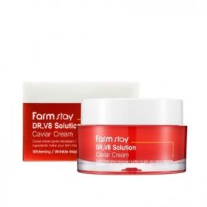 Антивозрастной питательный крем с экстрактом икры FarmStay Dr.V8 Solution Caviar Cream