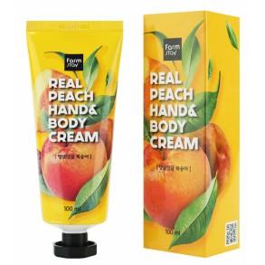 Крем для рук и тела с экстрактом персика FarmStay Real Peach Hand & Body Cream