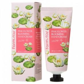 Крем для рук с экстрактом лилии FarmStay Pink Flower Blooming Hand Cream Water Lily