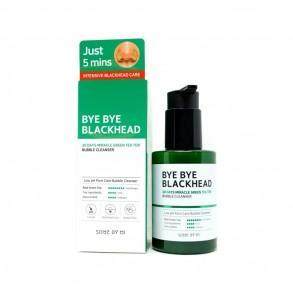 Кислородная маска-пенка от чёрных точек Some By Mi Bye Bye BlackHead 30Days Miracle Green Tea Tox Bubble Cleanser