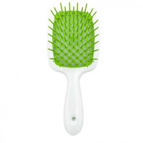 Расческа для волос (белый и зеленый) Janeke Superbrush 1830 the Original Italian Patent